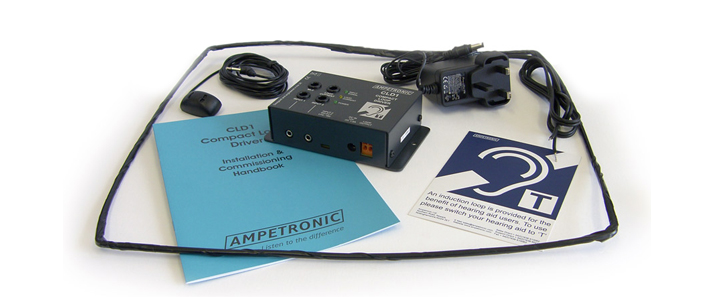 Ampetronic CLD1-CB Compact Loop Driver with Boundary Microphone