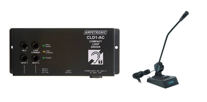 Ampetronic CLD1AC-CD Compact Loop Driver with Desktop Microphone