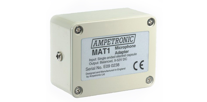 Ampetronic MAT1 Unbalanced to Balanced Microphone Adaptor