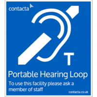 Contacta IL-SN06 Adhesive Front - Portable Loop Sign