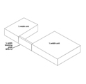 Ampetronic BPS-1U Blanking Plate for Above Tray 1/4""