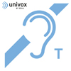 Univox Label with T Symbol Self Adhesive (80x73mm)