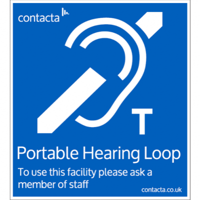 Contacta IL-SN05 Adhesive Backed - Portable Loop Sign