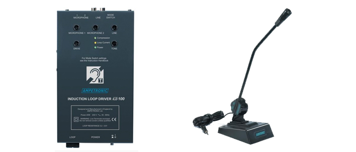 Ampetronic ILD100-DX Loop Driver with Desktop Microphone