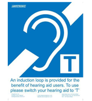 Ampetronic Induction Loop Adhesive Sign (Small A6)